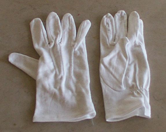 White Cotton Dress Gloves